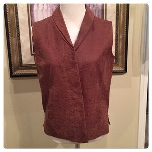 Coldwater Creek Leather Vest