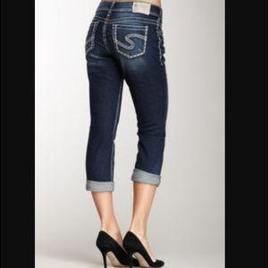 60% off Silver Jeans Denim - Silver jeans White Suki Capri from