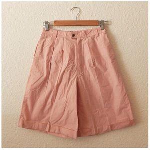 Vintage 80s High Waist Wide Leg Shorts