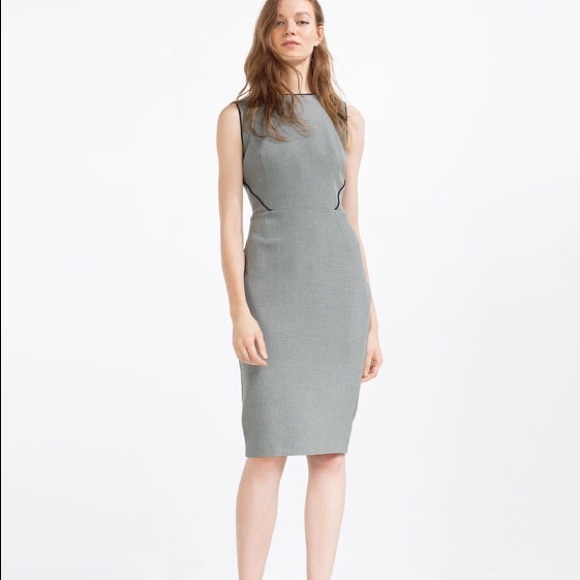 905374ed5b Zara grey tube dress with piping-- size large