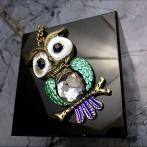 Articulated Owl Drop Necklace