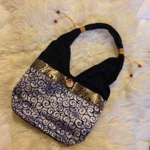 Handbags - 50% off🕊•Indian Boho Velvet & Silk Handbag🦋