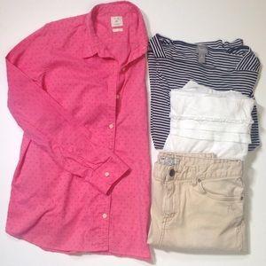 GAP long sleeve button down shirt Fitted Boyfriend