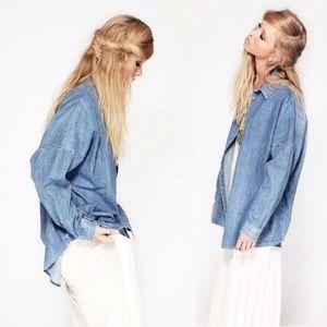 Wildfox | Ashley Oversized Jean Shirt