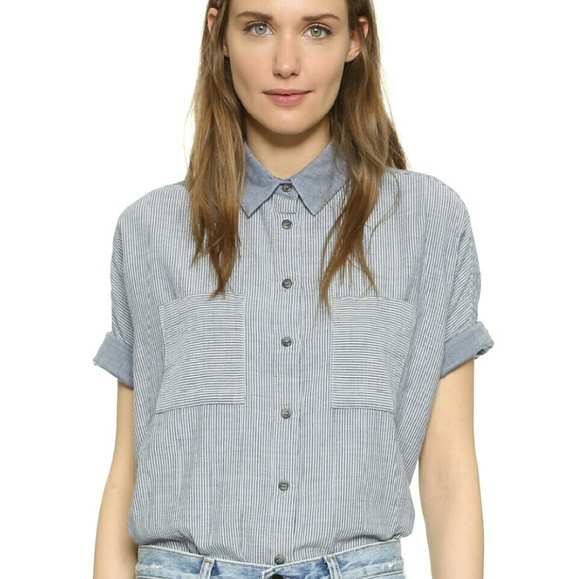 6f31bfd5 Madewell Tops | Courier Shirt Lilydale Stripe Button Down | Poshmark