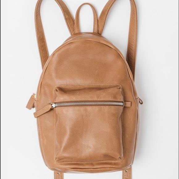 29% off Baggu Handbags - Baggu saddle brown leather backpack from ...