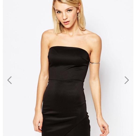 Asos club l black dress 2 piece