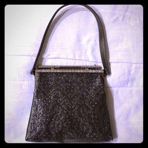 Valentino Handbags - VALENTINO- embellished mini satin evening bag