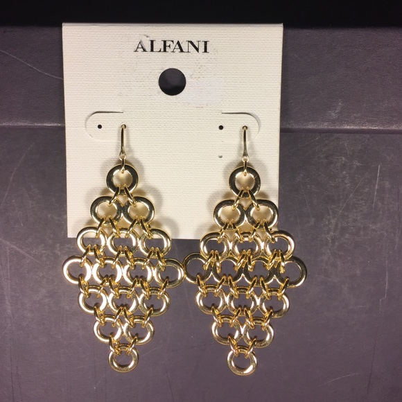 71 off Alfani Jewelry CLOSE OUT Alfani Gold Tone Chandelier – Gold Tone Chandelier Earrings
