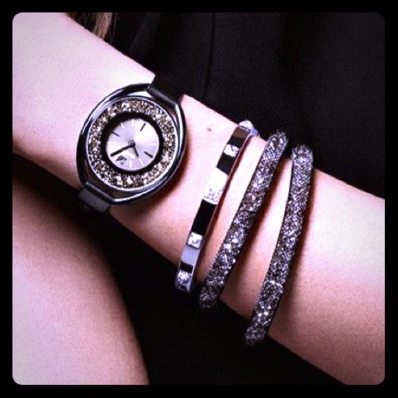 1b902a9f333 Swarovski Stardust Double Bracelet Choker