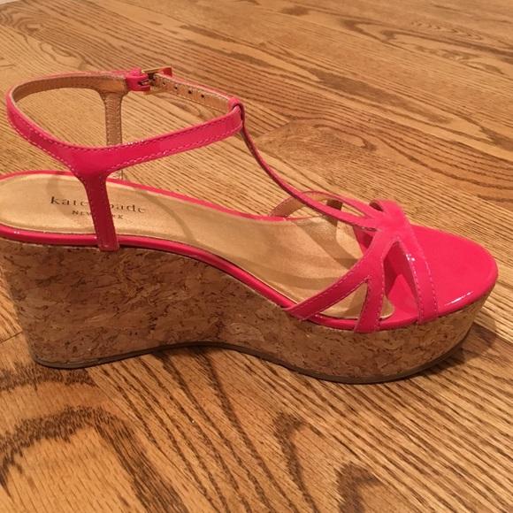 3b81947fb34 kate spade Shoes - Kate Spade hot pink cork wedge sandals