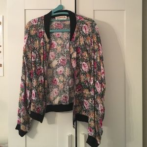 Urban Outfitters Floral Bomber Jacket by One&Only