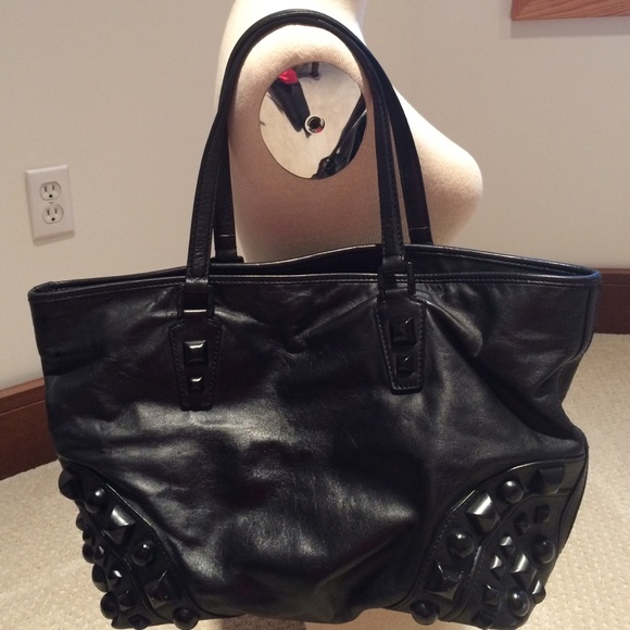 a9b2345b204 Burberry Bags | Authentic Studded Leather Tote Handbag | Poshmark