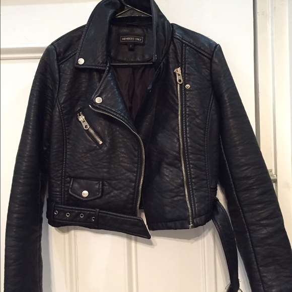 Members Only Jackets & Blazers - Moto style leather jacket
