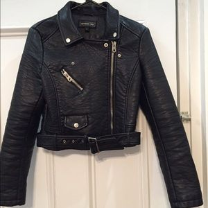 Members Only Jackets & Coats - Moto style leather jacket