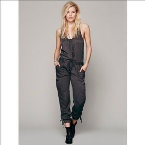 Free People Cargo Jumpsuit
