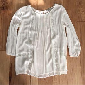 NWOT Boho white blouse