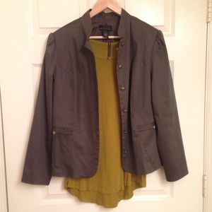 Attention Jackets & Blazers - Gray Military Inspired Jacket