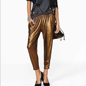 Lucca Couture Pants - NWT Lucas Couture metallic pants