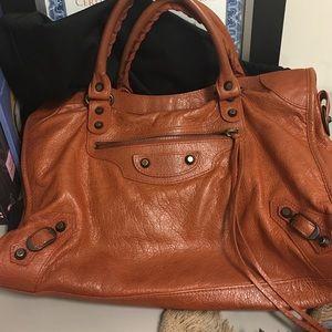 Balenciaga Handbags - Balenciaga Classic City Rusty Brown Satchel