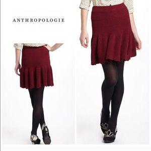 """Anthropologie """"Spun Sweater """" skirt - red"""