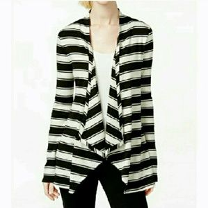 INC International Concepts Sweaters - 🆕INC Ribbed Striped Open-Front Cardigan