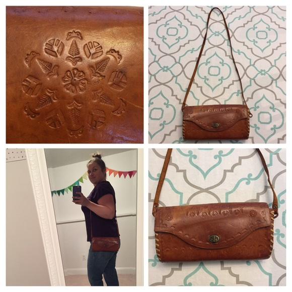 Cute Boho Hippie Handmade Tooled Leather Handbag! M 583da70fc2845643c2011b04 988cb737f1