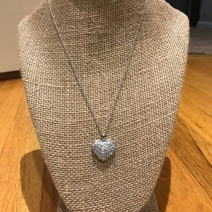 """Jewelry - Delicate 925 crystal heart necklace 18"""" chain"""