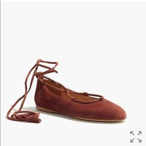 Madewell lace-up flats in suede