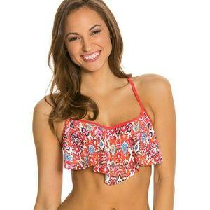 Profile Blush Small / D cup Flutter Bikini Top
