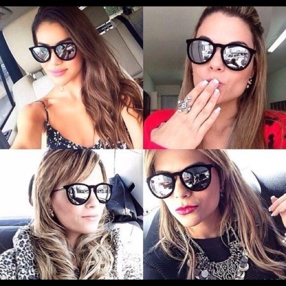ray ban accessories ray ban erika mirrored sunglasses poshmark rh poshmark com