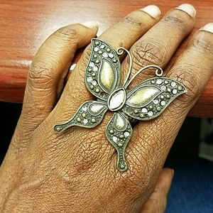 Jewelry - Antiqued Bronze Butterfly Ring