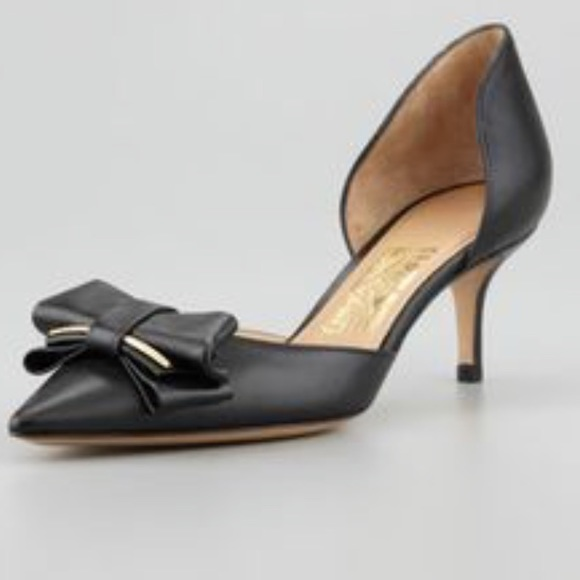outlet 2015 new Salvatore Ferragamo Suede d'Orsay Pumps outlet clearance sale hot sale Qhiofn