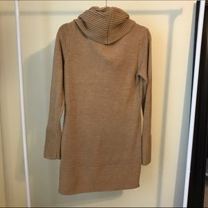 H&M Dresses - H&M tan turtleneck sweater dress