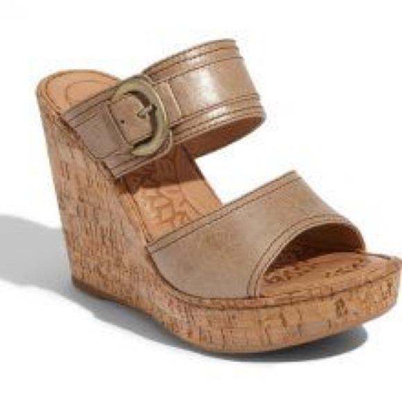 00c7f58f521c Born Shoes - Born Zee sz 9 tan leather cork wedge sandals