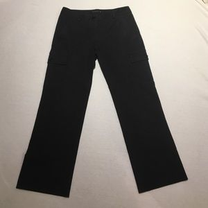 Theory black wide leg cargo pant