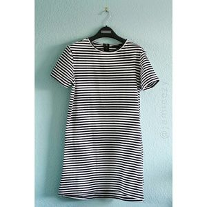 Forever 21 | Half-Zip Striped T-Shirt Dress
