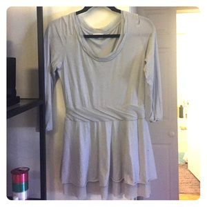 Casual light gray anthropologie top