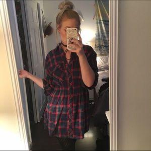 Flannel dress ❤️