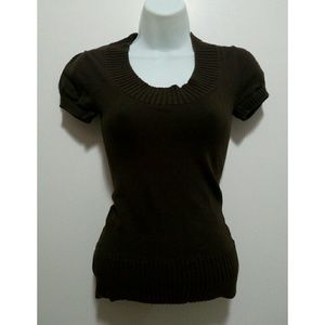 Forever 21 Sweaters - Forever 21 dark brown short sleeves sweater