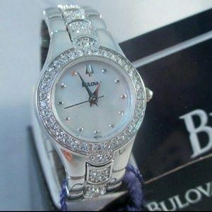 Bulova  Accessories - NWT $399 Bulova Swarovski crystals Stainless watch