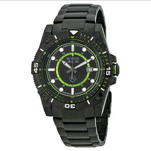 Bulova  Other - Bulova $499 Marine Star Green Accent black watch