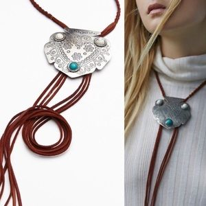 Free People Jewelry - NWT free people Montana necklace suede bolo
