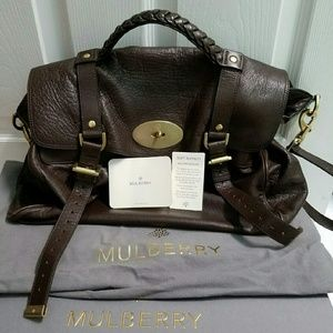 Mulberry  Handbags - 💯 authentic Mulberry Alex in chocolate bag