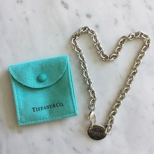 Tiffany & Co Please Return To silver necklace