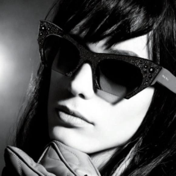 05bc26de8545 Miu Miu Rasoir Crystal Cat Eye Sunglasses. M 583de94713302a60b401f9c2