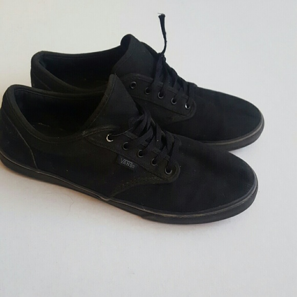 82% off Vans Shoes - Solid Black Vans Skate shoes, hardly worn ...