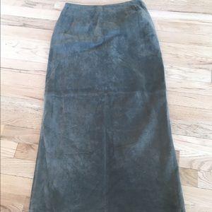 Valerie Stevens Dresses & Skirts - Valerie Stevens Green leather skirt