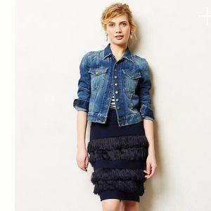 Anthropologie Eva Franco fringe pencil skirt-NWT!