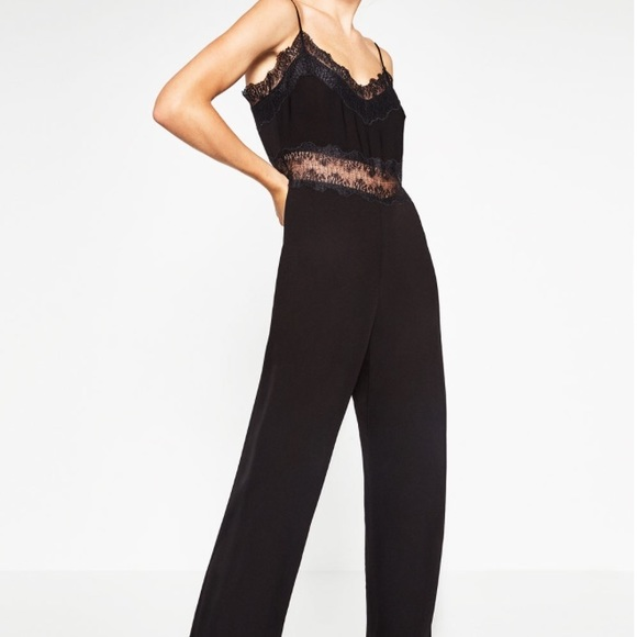 baf9523e514 Black Lace Jumpsuit